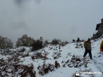 Valle de Iruelas - Pozo de nieve - Cerro de la Encinilla;senderismo navarra senderistas murcia